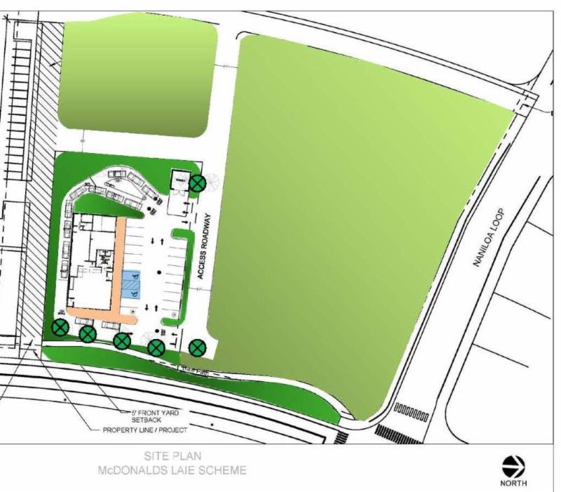 Laie McDonald's conceptual site plan