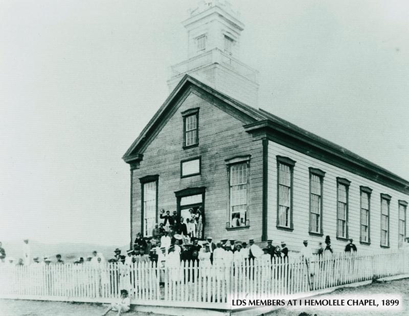 LDS Members at I Hemolele Chapel (1899)