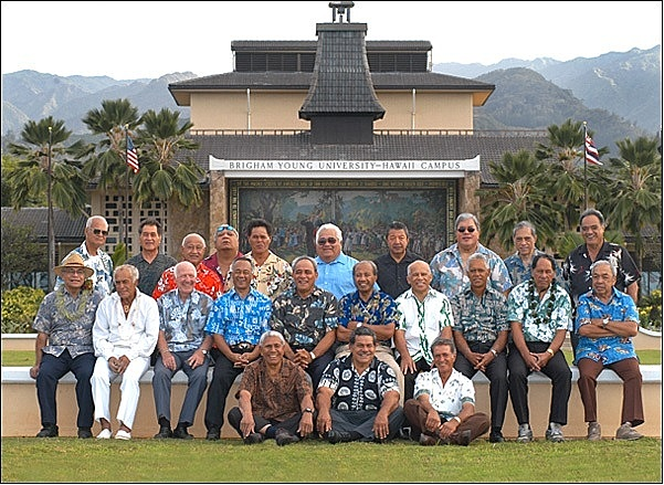 Former labor missionaries at a reunion in 2005