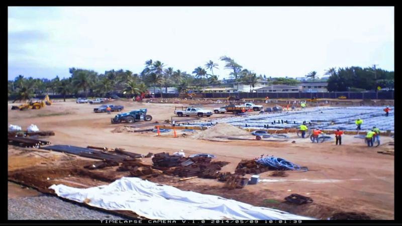 Hotel construction timelapse video screen shot