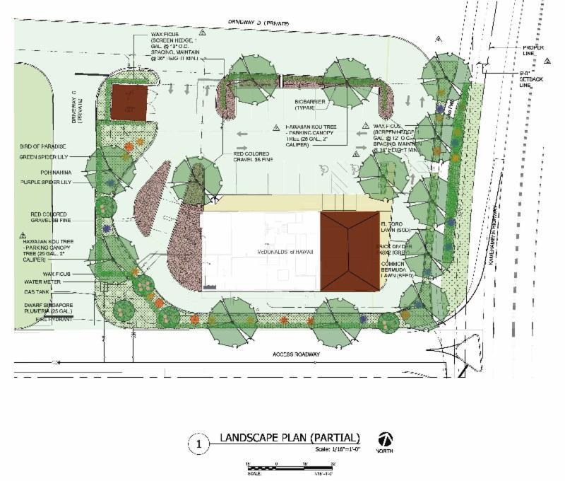 McDonald's Landscape Plan