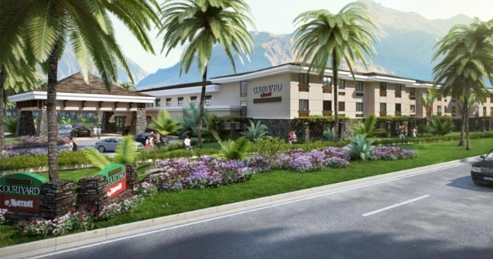 Conceptual Rendering of Laie Courtyard by Marriott