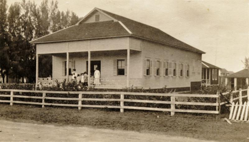 Laie Social Hall_ circa 1915  _Courtesy Church History Library__ A historical marker was installed in 2006 noting the location on Loala Street