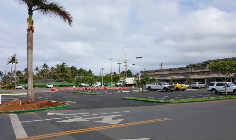 New parking stalls at Laie Shopping Center