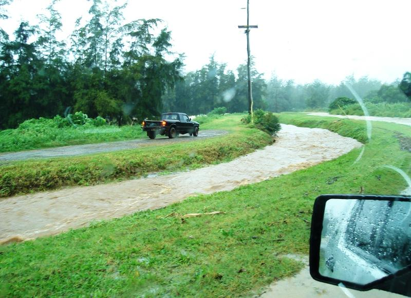Wailele Stream during heavy rain event