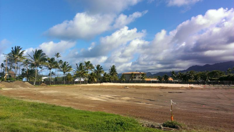 Hotel view from Kahuku side of property