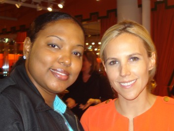 Cherese Bracey with Tory Burch