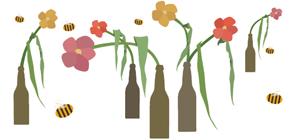 Spring Beer Bottle Art