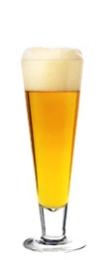 Lambic Beer Glass Art