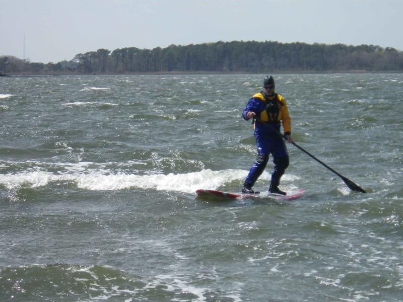 Paddleboard downwind fun
