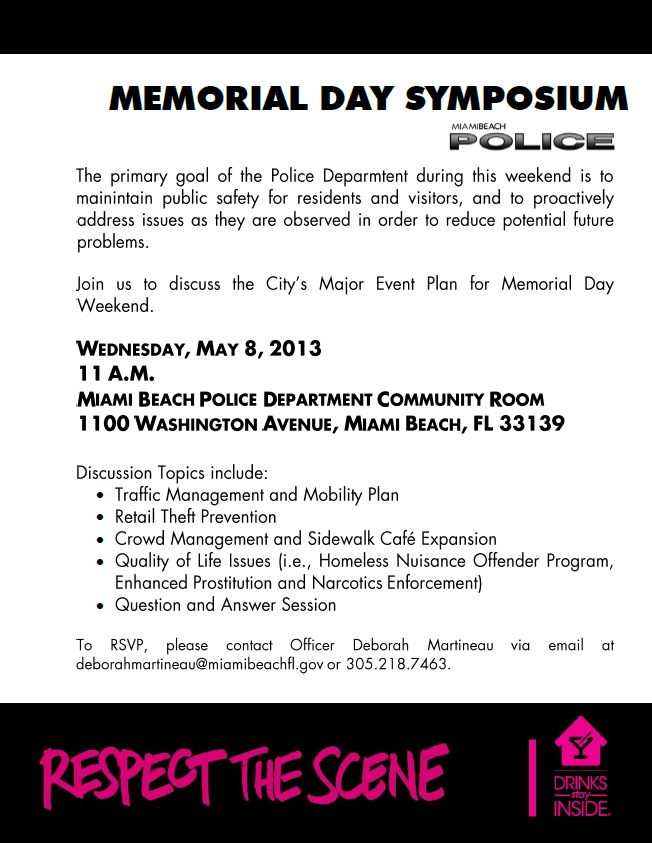 Memorial Day Symposium