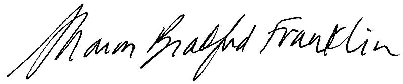 Sharon Bradford Franklin Signature