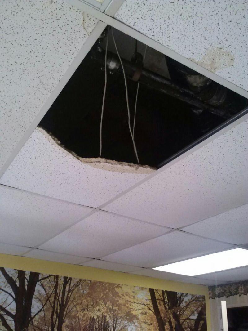 Brooklyn office ceiling