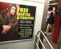 Subway ad with door open