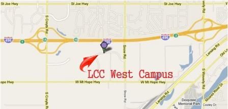 LCC West Campus Map 3