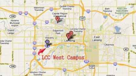 LCC West Campus Map 1