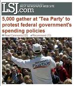 MI FairTax Prominent at Lansing Tea Party