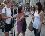 Urbino students interviewing