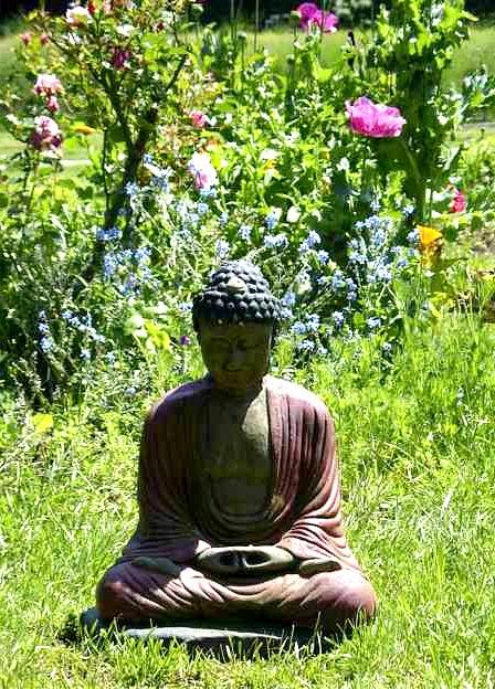 Green Gulch_Buddha_Flowers