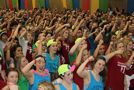 Students at a dance party event.
