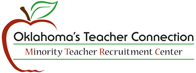 Logo: Oklahoma's Teacher Connection. Minority Teacher Recruitment Center.