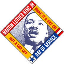 Logo: Martin Luther King Jr. Day of Service.