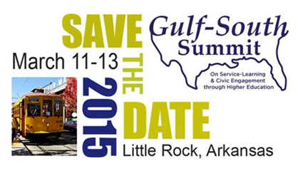 Save the Date. Gulf-South Summit. March 11-13, 2015. Little Rock, Arkansas.