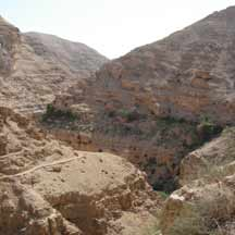 Wadi in the Israeli Negev (ICEJ Staff photograph)