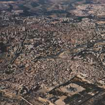 Jerusalem from the air (ICEJ Staff photograph)