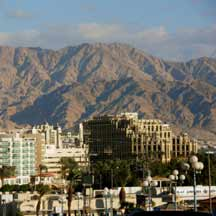 Eilat with the Edomite hills in the background (ICEJ Staff photograph)