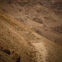 Steps at Masada (ICEJ Staff photograph)