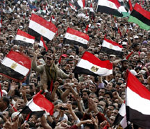 Egyptian protesters (AFP)