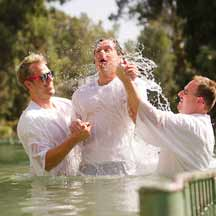 Baptism in the Jordan (ICEJ Staff photograph)