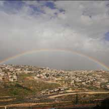 Rainbow over Jerusalem (ICEJ Staff photograph)