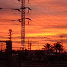 Red skies over Haifa (ICEJ Staff photograph)
