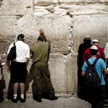 Israelis praying at the Western Wall (ICEJ Staff photograph)