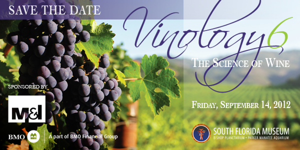 Vinology save date with M&I logo