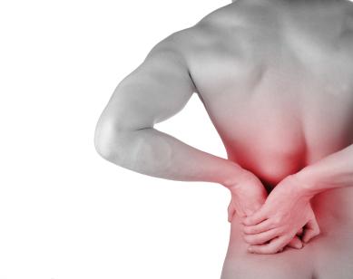 burning back pain