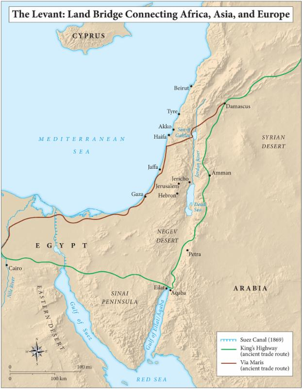The Levant Land Bridge to Africa_ Asia_ and Europe