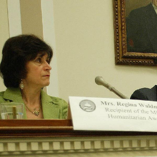 Regina Bublil Waldman testifying in Washington D.C.