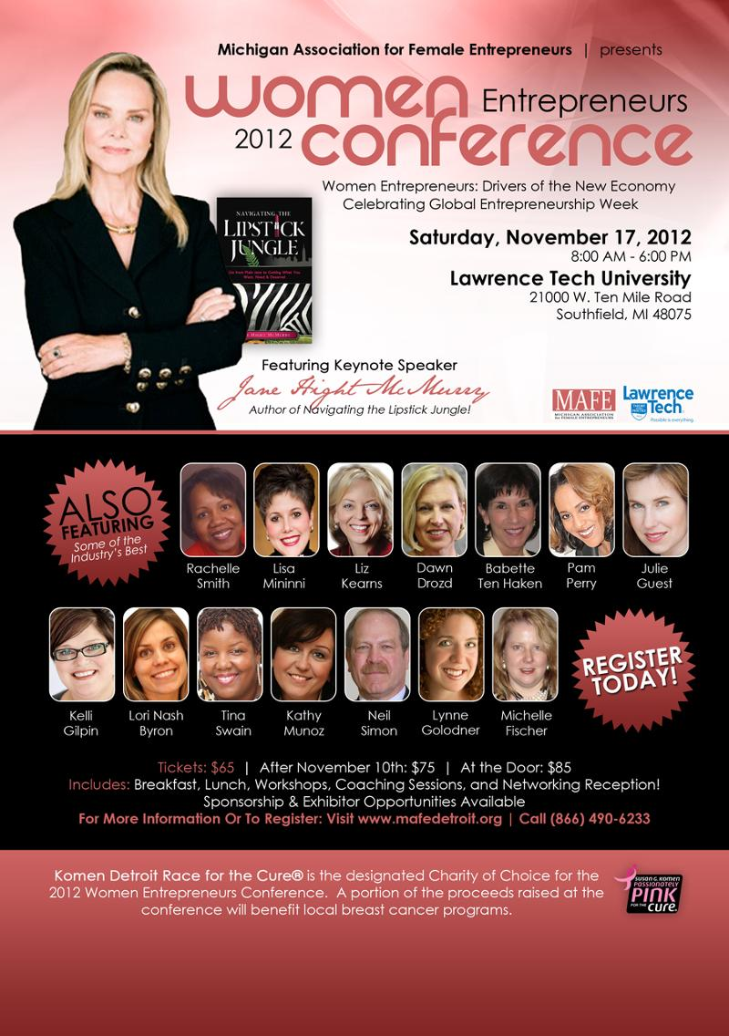 MAFE Women's Entreprenuers Conference - Jillian Blackwell Agency - My Girlfriends' Business - Detroit Faces and Places