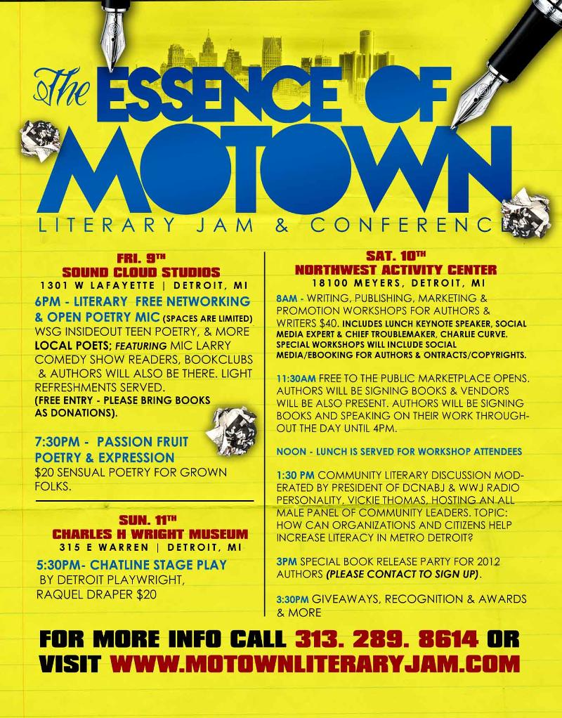 Motown Writers Confernece = Detroit Faces and Places - Jillian Blackwell Agency