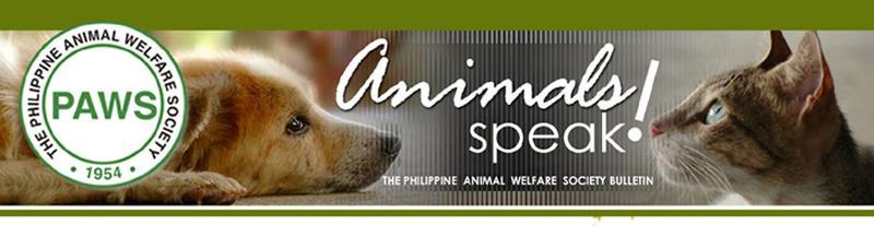 Animals Speak PAWS Bulletin