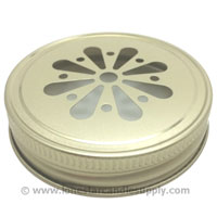 Metal Threaded Daisy Cut Gold Lid _70
