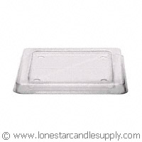 Small Flared Square Plastic Lid