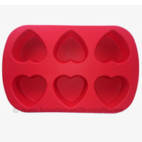 Silicone Heart Mold 6 count