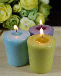 Finished votive candles