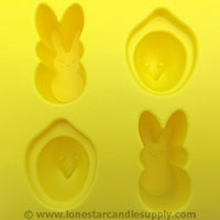 Silicone Peeps Easter Mold