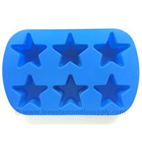 Silicone Star Mold 6 count