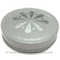 Metal Threaded Daisy Cut Pewter Lid #70